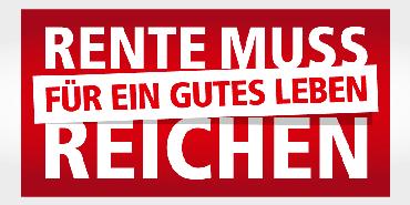 DGB Kampagne, Rente muss für ein gutes Leben reichen, Besonder Dienstleistungen NRW