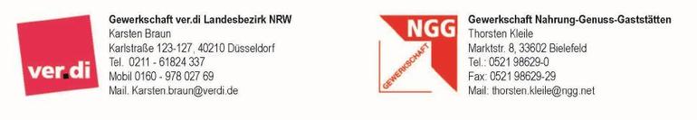 Verantwortliche Tarifverhandlungen Bali-Therme, Besondere Dienste NRW, Tarifverhandlungen, Bali-Therme, NGG,
