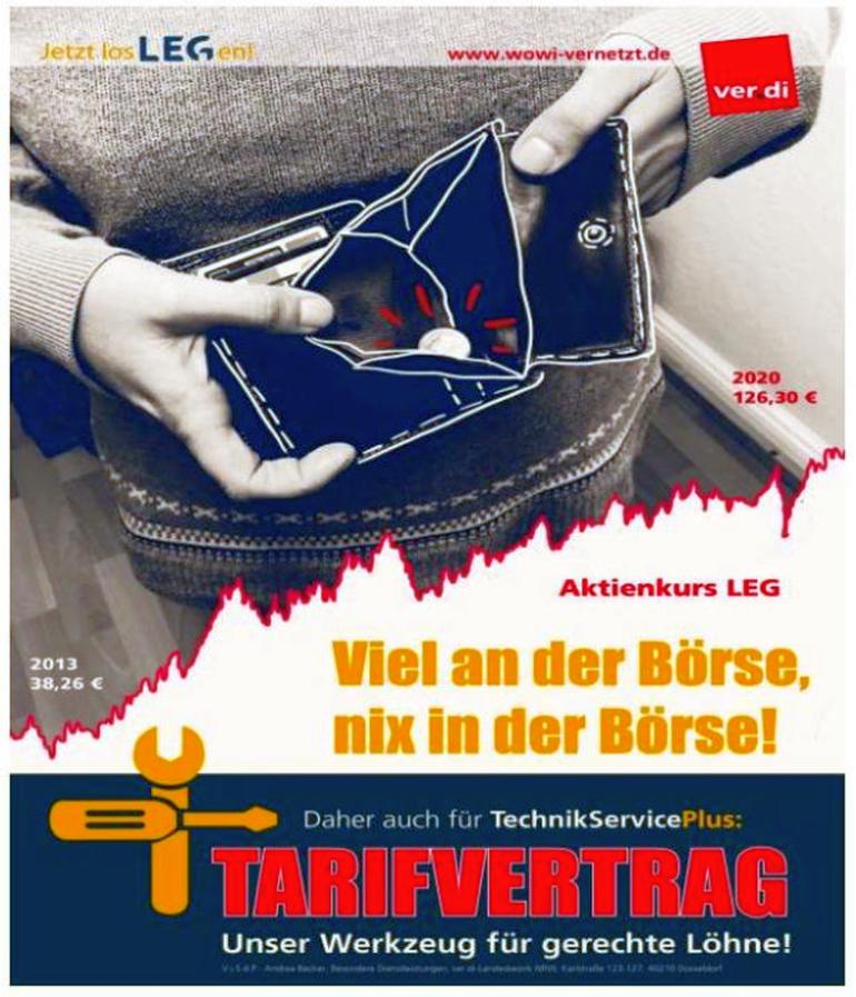 Tarif, Tarifkommission, Streikrecht, Wohnungswirtschaft NRW, LEG, Technik Service Plus,