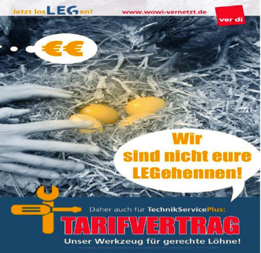 Ausstand, Streik, Wohnungswirtschaft NRW, TSP, Standort West, Besondere Dienste NRW, Tarifvertrag,