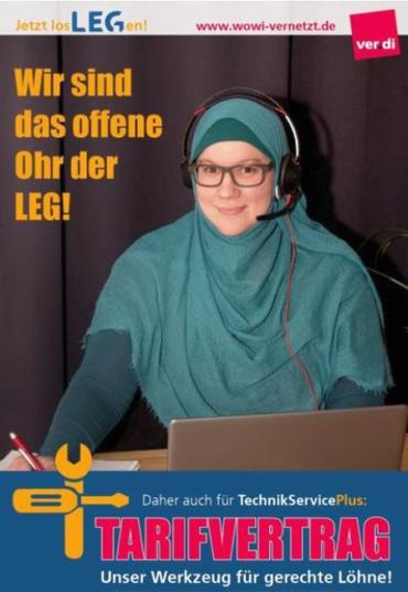 Ausstand, Streik, Wohnungswirtschaft NRW, , LEG, TSP, Alle Standorte, Besondere Dienste NRW, Tarifvertrag, LEG